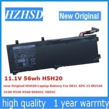 11.1V 56wh H5H20 new Original H5H20 Laptop Battery For DELL XPS 15 M5510  5520 9550 9560 05041C 5D91C