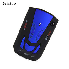 New USB car-styling  Auto 360 Degree LED Display Car Radar Detector V7 anti Laser radar detector 16 Band Voice Alert hot selling