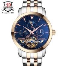 2017 BINKADA Men Watches Men Luxury Brand Mechanical Watch Business Men Wristwatch Sapphire Stainless Steel Analog Clasp