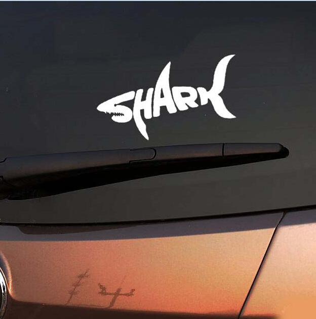 Motorcycle sticker car styling shark car stickers cool letter automobile modeling car decoration in decals stickers from automobiles motorcycles on