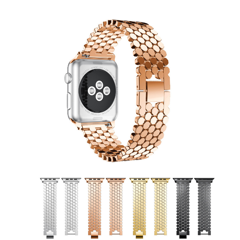 sport stainless steel watch band for apple watch band 42mm 38mm Replacement metal link bracelet strap for iwatch series 3/2/1 wristband silicone bands for apple watch 42mm sport strap replacement for iwatch band 38mm classic stainless steel buckle clock