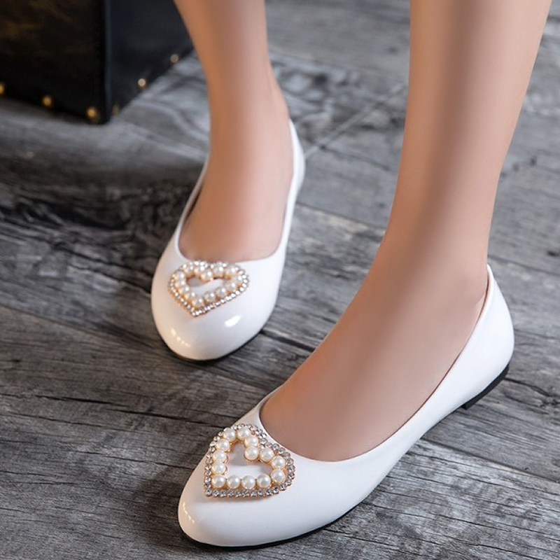 Bateau Grande Femmes Mode Plat Taille silver Strass white Mujer Bout gold Zapatos Apricot 52 Nouveau Décoration automne blue Rond pink red Slip Appartements 31 on black Chaussures Printemps IZFvYxa