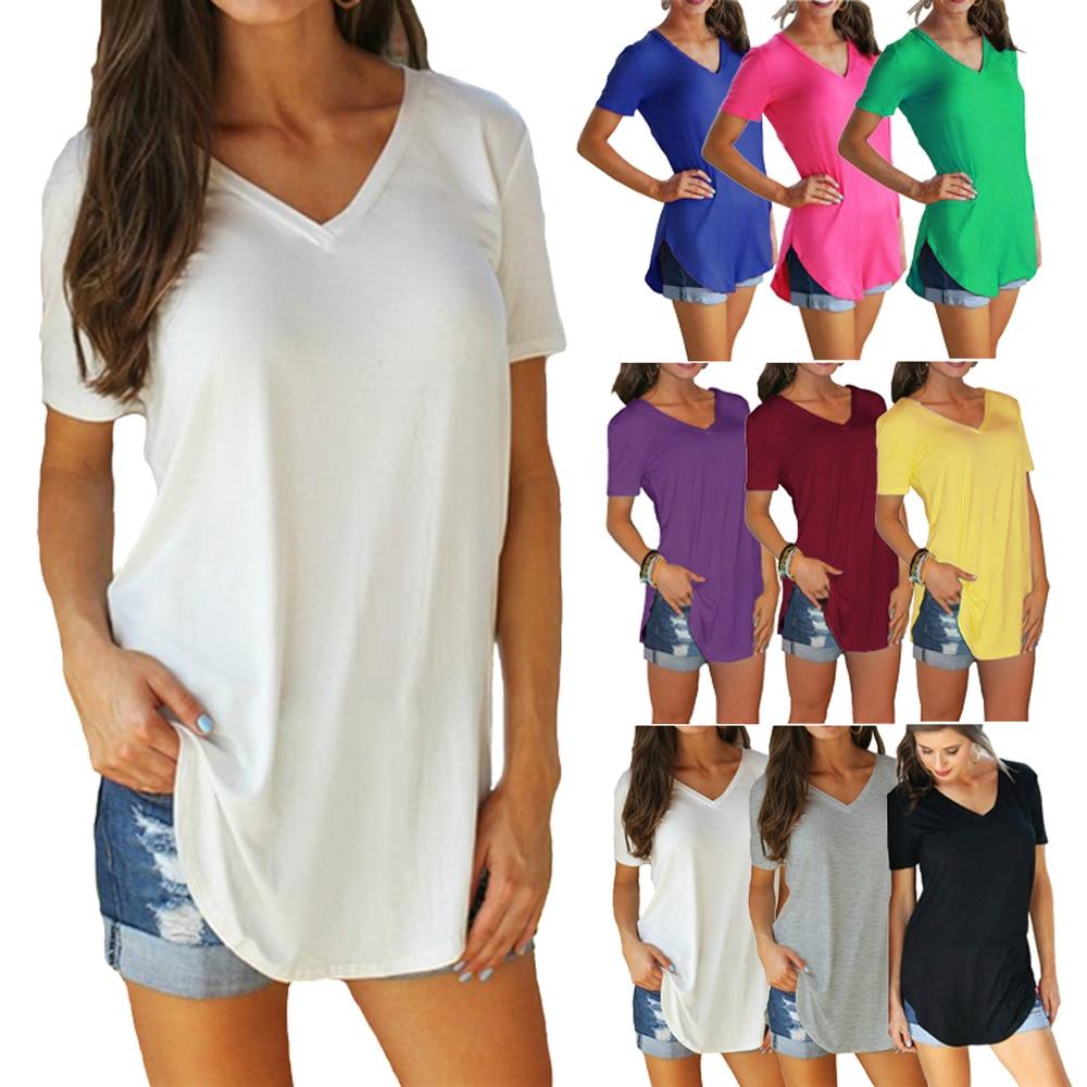 Grande taille 3XL 4XL 5XL t shirt femmes t-shirt grandes tailles t-shirt décontracté longues tuniques femmes hauts t-shirt blanc femme été 2019