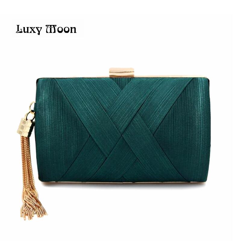 New 2017 Metal Tassel women Clutch Bag Chain evening bags Shoulder Handbags Classical Style Small Purse Day Evening Clutch Bags 2018 new arrival retro style box bag luxury handbags women bags designer chain tassel evening totes bag box clutch purse