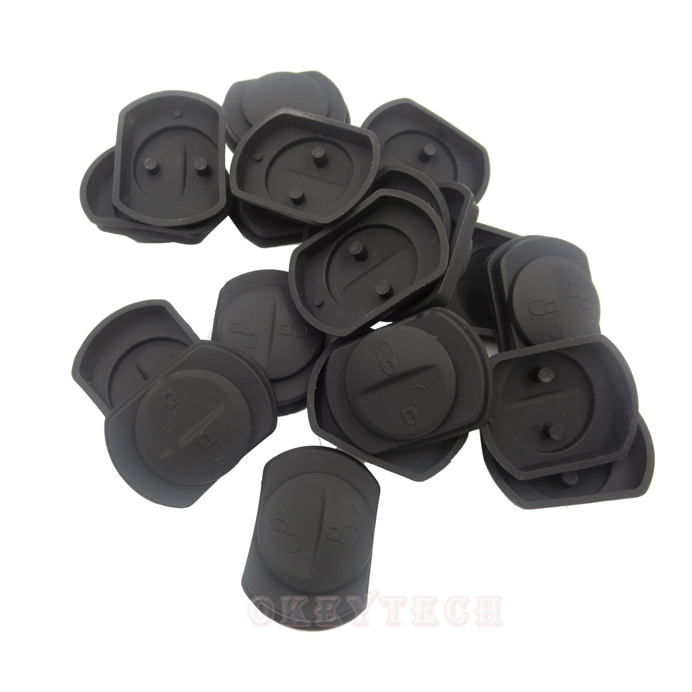 OkeyTech 50 pieces Remote <font><b>Key</b></font> FOB 2 Button Rubber Pad <font><b>Replacement</b></font> Fits for <font><b>mitsubishi</b></font> asx outlander lancer 10 <font><b>l200</b></font> image