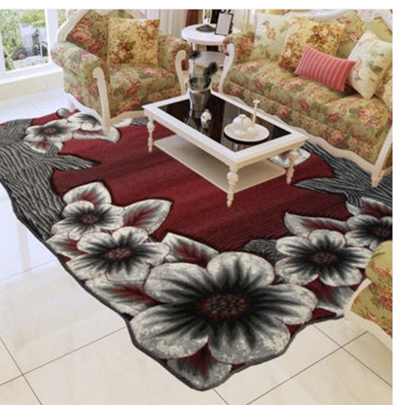 Turkey Imported Nordic Carpets For Living Room 100% Polypropylene Thick Flower Irregular Carpet For Bedroom Coffee Table Rugs