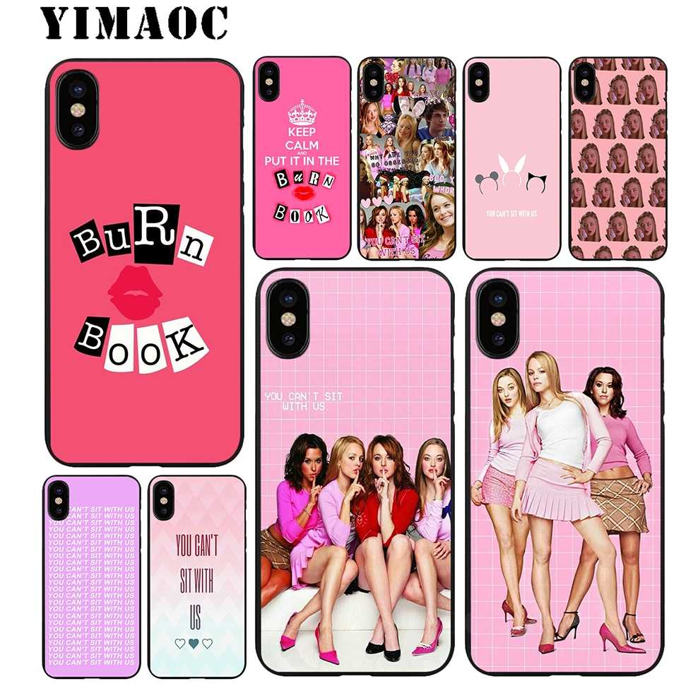 sports shoes afe79 ea318 YIMAOC Mean girls Soft TPU Black Silicone Case for iPhone Xr Xs Max X or 10  8 7 6 6S Plus 5 5S SE