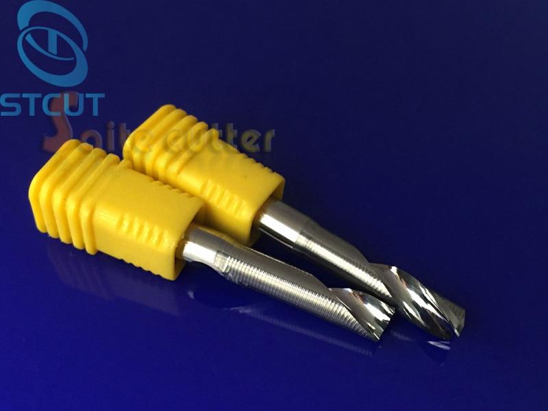 Купить с кэшбэком 1PC Single Flute Milling cutters for Aluminum CNC Tools Solid Carbide CNC flat End mills Router bits,aluminum composite panels