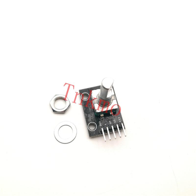 5PCS 360 Degrees Rotary Encoder Module For Arduino Brick Sensor Switch Development Board KY-040 With Pins volume control pulse potentiometer knob 360 rotary incremental encoder module for arduino board