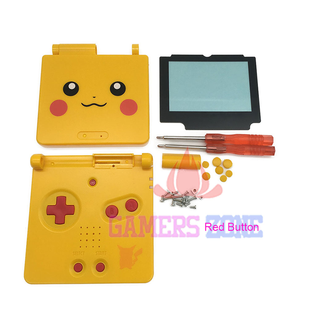 For Pokemon Limited Edition Housing Shell Case Cover for Nintendo Gameboy Advance SP For Pikachu Version