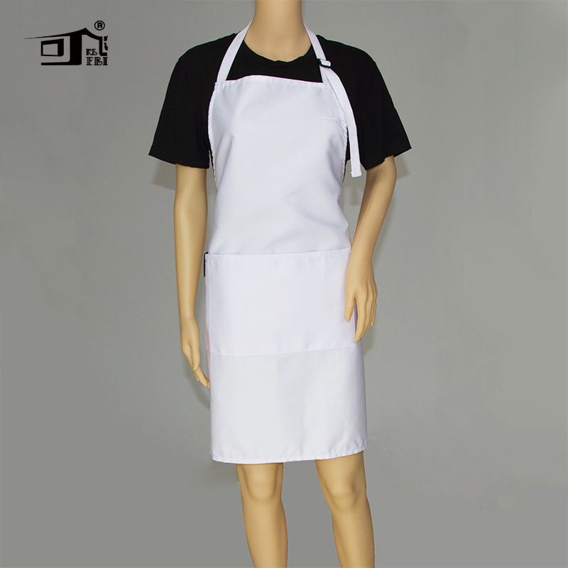 Original Kefei Aprons For Woman Chef Apron Personalized Aprons Adjustable Neck With 2 Pockets 10 Color Long White Apron