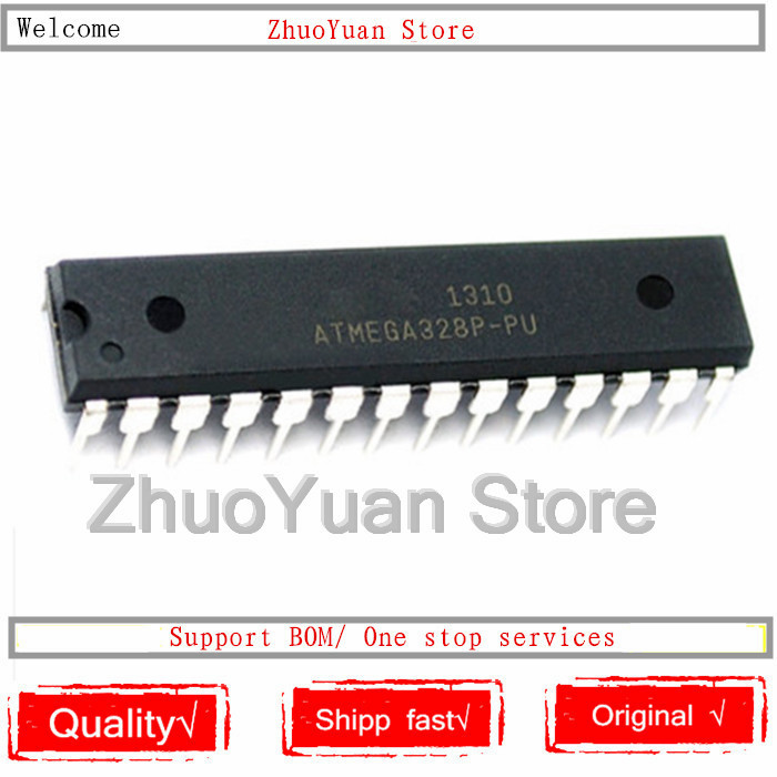 1PCS/lot ATMEGA328P-PU DIP28 ATMEGA328-PU DIP ATMEGA328P U DIP-28 328P-PU  IC Chip New Original In Stock