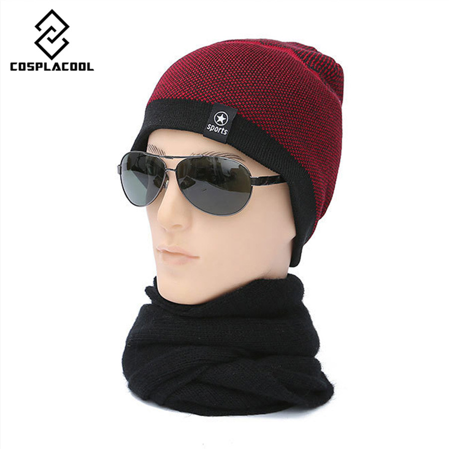 COSPLACOOL Fashion Men Knitted Winter Cap,Casual Beanies for Men Solid Color Hip-hop Slouch Skullies Bonnet Unisex Cap Hat Gorro  цены