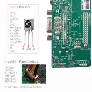Image 3 - Destek rusça yükseltilmiş V56.031 evrensel LCD TV denetleyici sürücü panosu TV/PC/VGA/HDMI/USB USB oyun medya v56 çip freegift