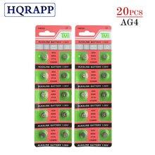 20 штук 1,55 V AG4 Батарея SR626 377 LR626 LR66 SR66 SR626SW 377A кнопочная ячейка часы монета G4 батареи для устройств часы