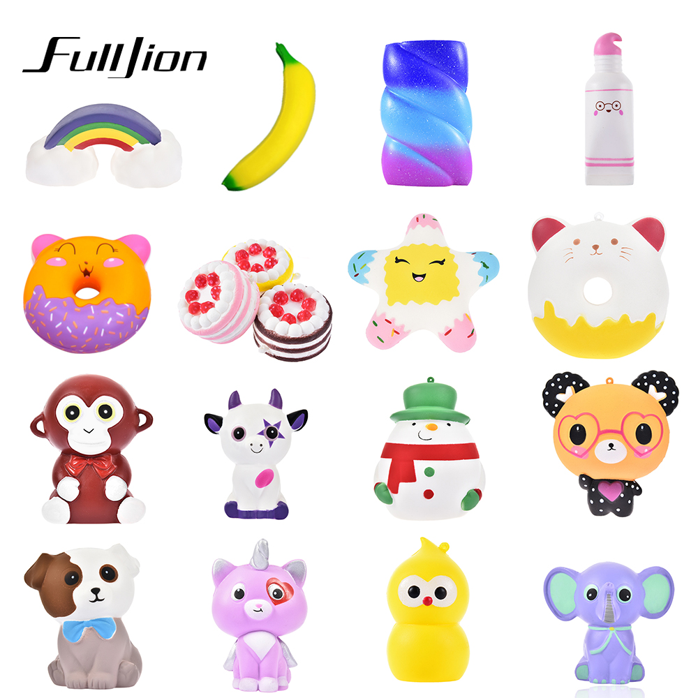 Fulljion Squishy Toys Antistress Surprise Unicorn Novelty Gag Toys Squish Squeeze Anti Stress Popular Funny Gags Practical Jokes oyuncak squishy unicorn novelty gag toys surprise antistress fun squeeze unicorn squish kawaii anti stress jumbo funny gadgets