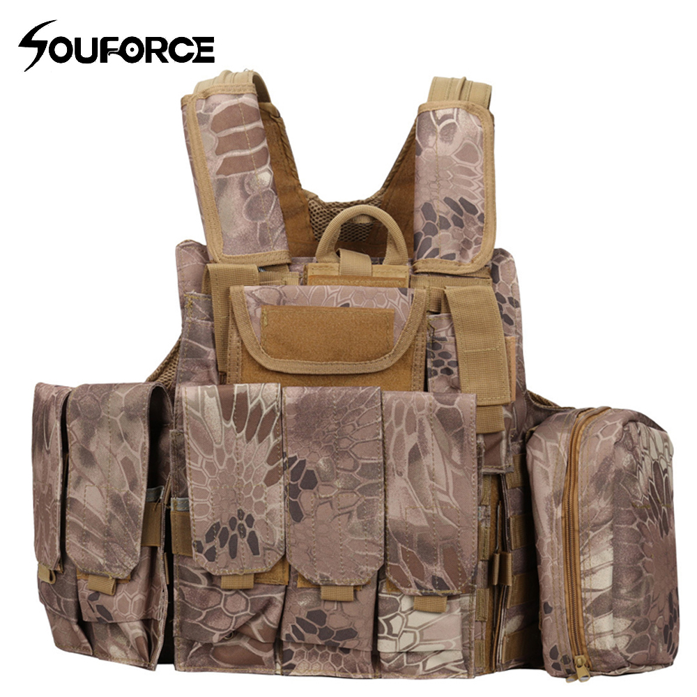 New Outlife Camouflage Hunting Military Tactical Vest Wargame Body Molle Armor Hunting Vest CS Outdoor Jungle Equipment
