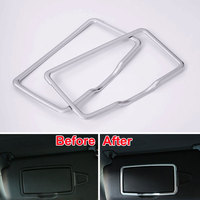 ABS 1PAIR Car Front Make Up Mirror Cosmetic Cover Trim Frame Decoration For A B C