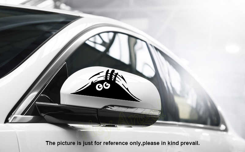 Peeking monstro etiqueta do carro vinil decalque para renault megane 3 suzuki sx4 mazda 2 peugeot 508 opel corsa d prius bmw