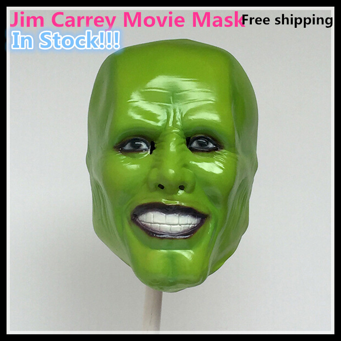 Free shipping Halloween Cosplay Latex Stag THE MASK Jim Carrey LATEX MASK Movie Face Head Mask - Halloween Costume Prop image