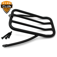 Motorcycle Sissy Bar Backrest Luggage Rack Solo Shelf Frame For Harley Touring Street Glide Road King Road Glide 09 18