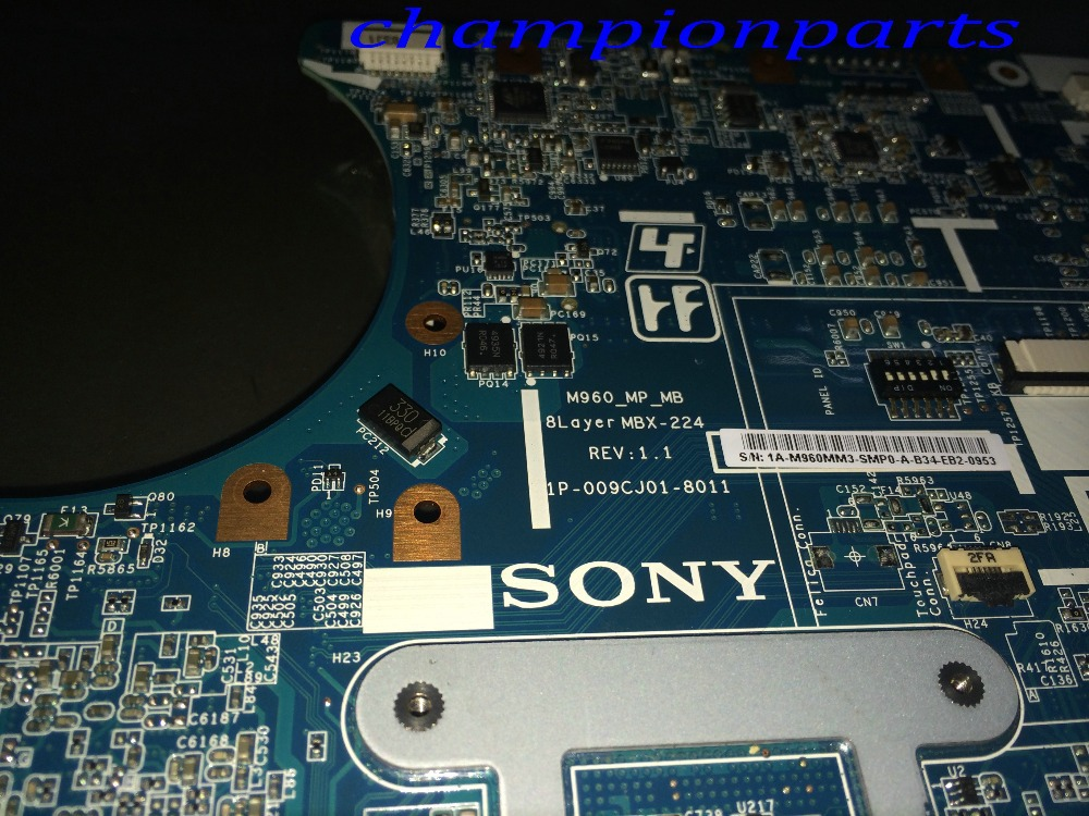 ФОТО A1780052A New + Available Free Shipping MBX-224 M960 REV : 1.1   Laptop Motherboard for Sony VPCEA Notebook COMPARE BEFORE ORDER