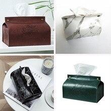 Кухня организации хранения ткани Коробки чехол год Кожа PU для хранения тканевых салфеток чехол