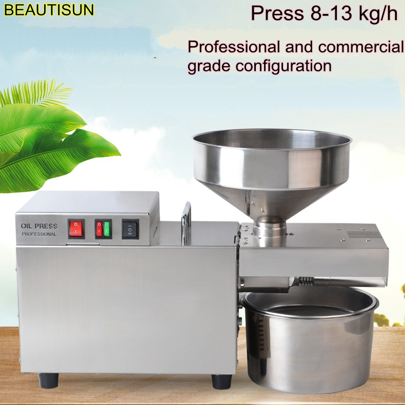 BEAUTISUN,Stainless steel automatic oil machine, small commercial oil press, Hemp  coconut oil extractor  machine oil presser,S9|Oil Pressers|   - AliExpress
