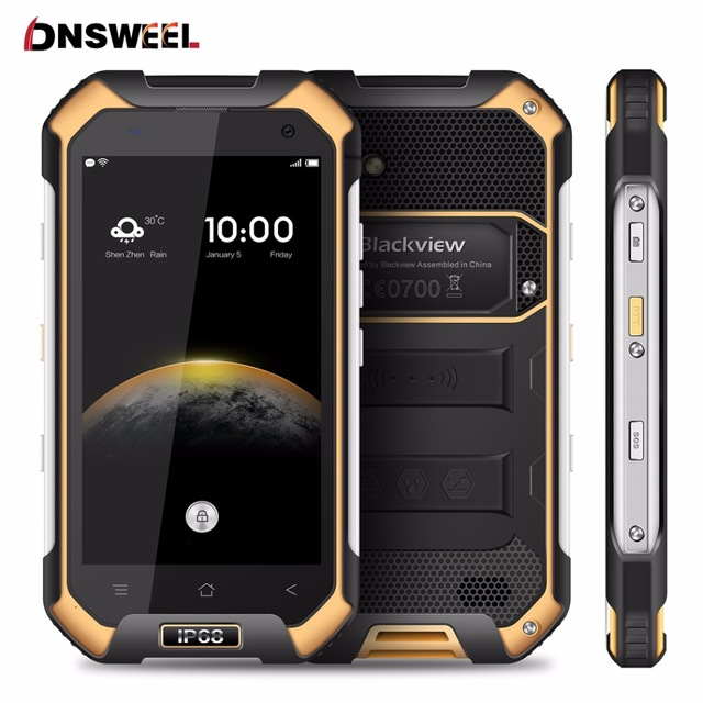 """Blackview BV6000 Smart phone 4G Waterproof IP68 4.7""""HD MT6755 Octa Core Android 6.0 Mobile Phone 3GB+ 32GB 13MP cell phone"""