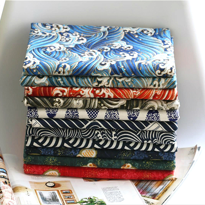 Popular japanese linen cotton fabric buy cheap japanese for Owl fish store
