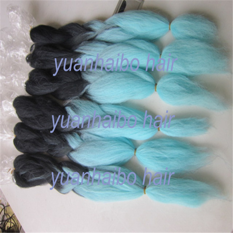 On sale 20 super jumbo braiding hair extension blacklight blue 20 super jumbo braiding hair extension blacklight blue two tone synthetic hair 60gpc ombre jumbo braid hair on aliexpress alibaba group pmusecretfo Images