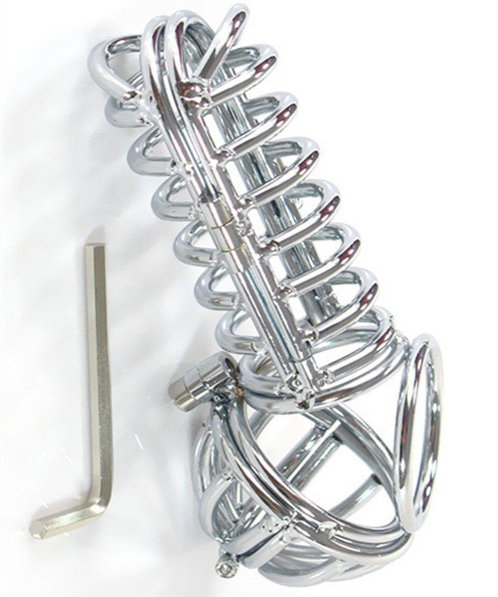 Men Chastity Belt Metal Male Cock Cage Penis Rings Bondage Slave In Adult Games,Fetish Erotic Sex Toys Products