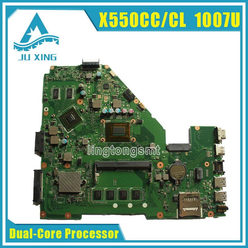 For ASUS X550CC X550CL Laptop motherboard X550CC mainboard REV2.0 with graphics card N14M-GE-S-A2 chipest 100% tested 45 days warranty laptop motherboard for asus k53b la 7322p with 4 video chips non integrated graphics card 100