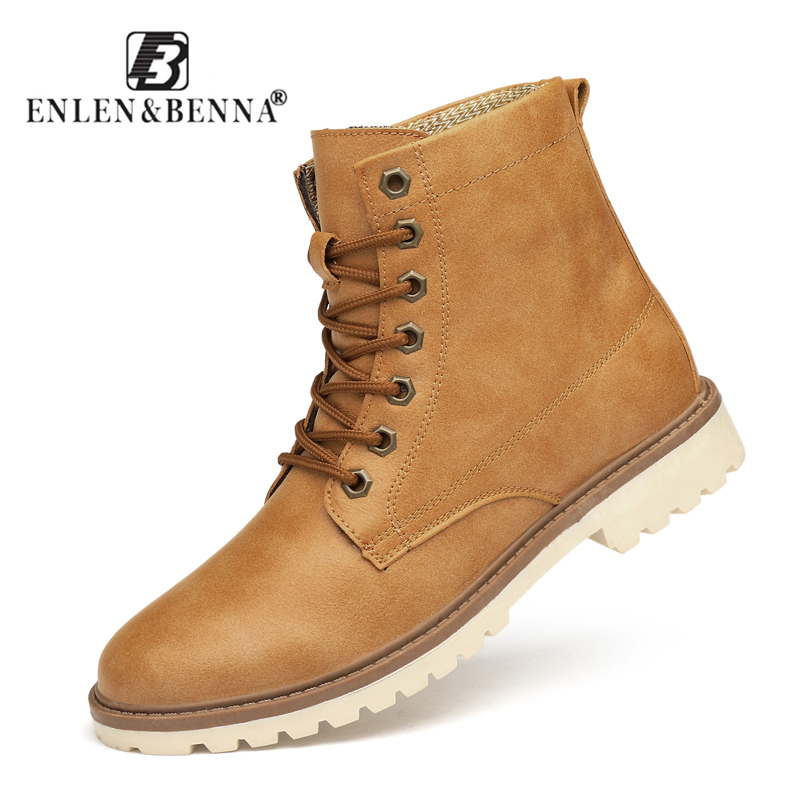 2018 Brand Super Warm Men Winter Leather Men Waterproof Rubber Snow Boots Leisure Boots England Retro Shoes for Men Big Size big size winter warm leisure shoes
