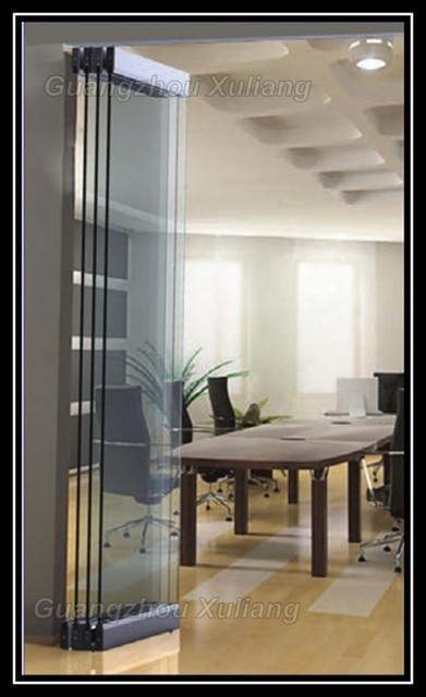 Sin marco plegable puerta corrediza de vidrio en puertas - Puerta de acordeon ...