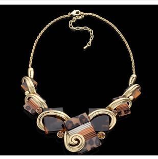 Comiya vestido de noiva fashion leopardo cópia do vintage colar conjunto de jóias brincos marca bijoux venda quente venda frete grátis