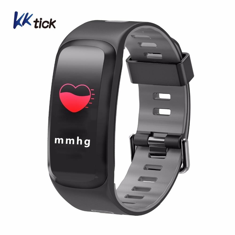 KKTICK 2018 Professionnel IP68 Étanche Smart bracelet F4 Couleur LCD Écran Smartbrands Coeur Taux Sang pression Sports tracker