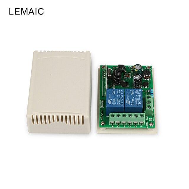 Universal 433 mhz 2CH Relais RF Drahtlose Fernbedienung Schalter AC ...