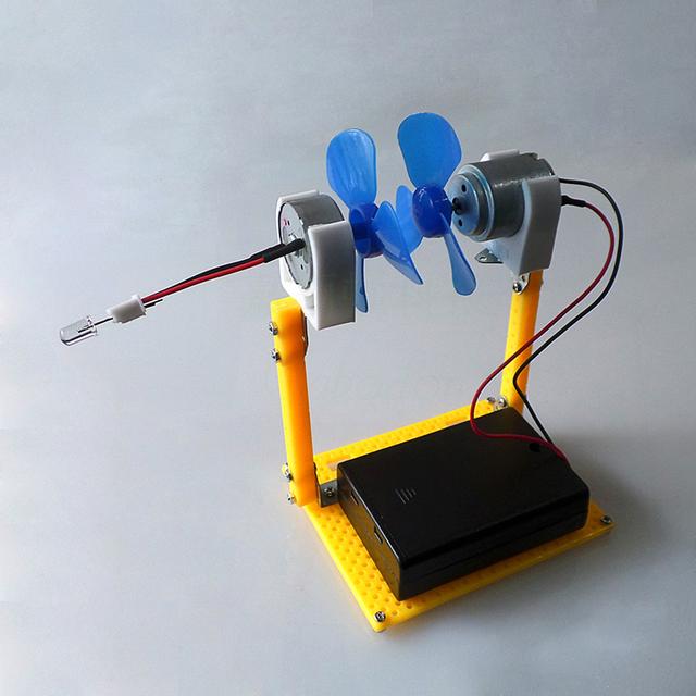 Electric Generator Motor Energy Wind Turbine Power Mini Kids LED Education DC AC In Stock