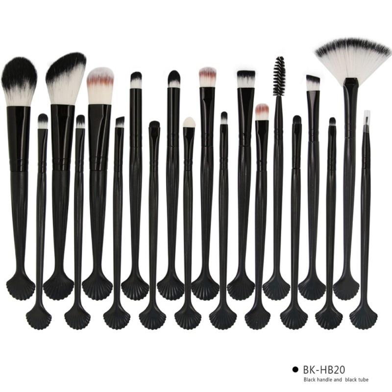 Shell Makeup Brushes Set Pro Eyeshadow Foundation Powder Make Up Brush maquiagem 20Pcs Professional Cosmetics Kit Hot