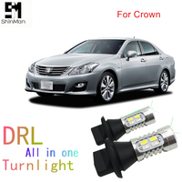 Shinman WY21W 7440 T20 for toyota crown led DRL Daytime Running Light& Front Turn Signals all in one auto led light