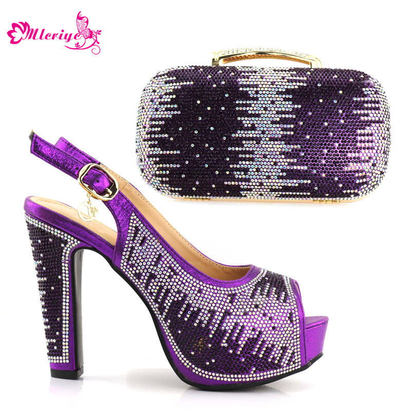 1719 purple Color African shoe and bag set Italian shoe with matching bag best selling ladies matching shoe and bag Italy shoes fashion african shoe and bag set for party italian shoe with matching bag new design ladies matching shoe and bag italy bch 22