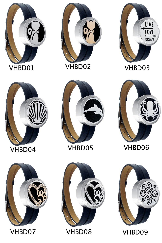 ZP-BS504-0 Diffuser Leather Locket Bracelet-2