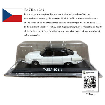 IXO 1/43 Scale Vintage Car TATRA 603-1 Diecast Metal Car Model Toy For Collection,Gift,Decoration image