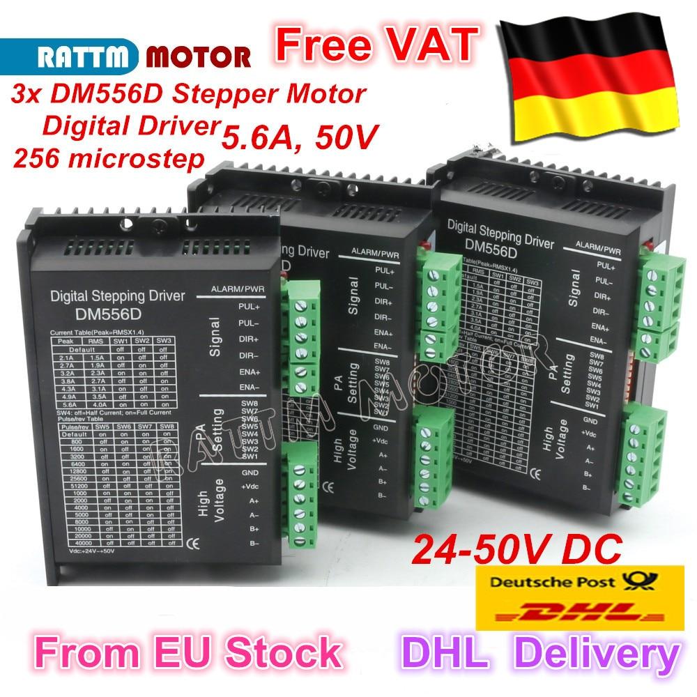 3PC DM556D Digital stepper motor driver 5 6A 256 microstep High performance design fit nema17 to
