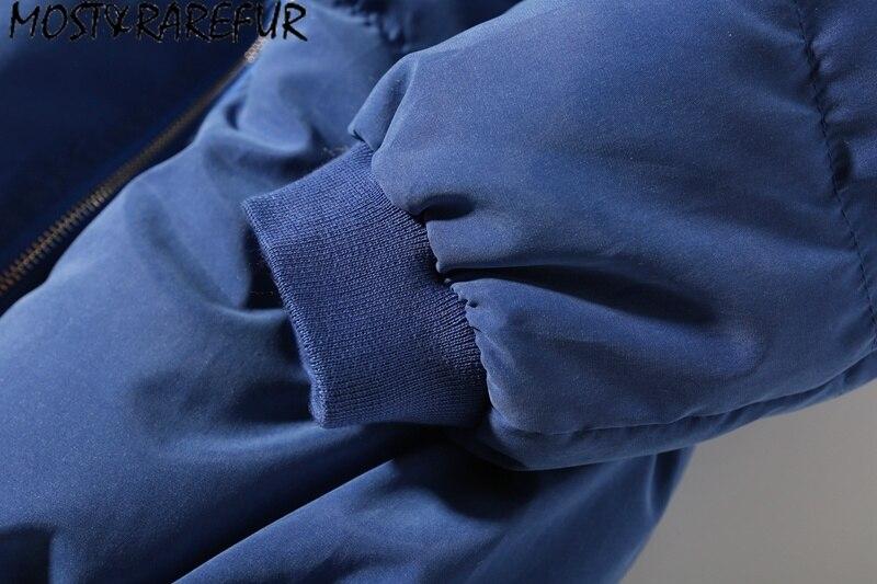 Streetwear Hommes Épais Patchwork Mode Corée Hiver bleu Solide amp; Casual Vestes Rarefur gris Outwear 2018 Plus Chaud Style Noir OxqXw7OI1