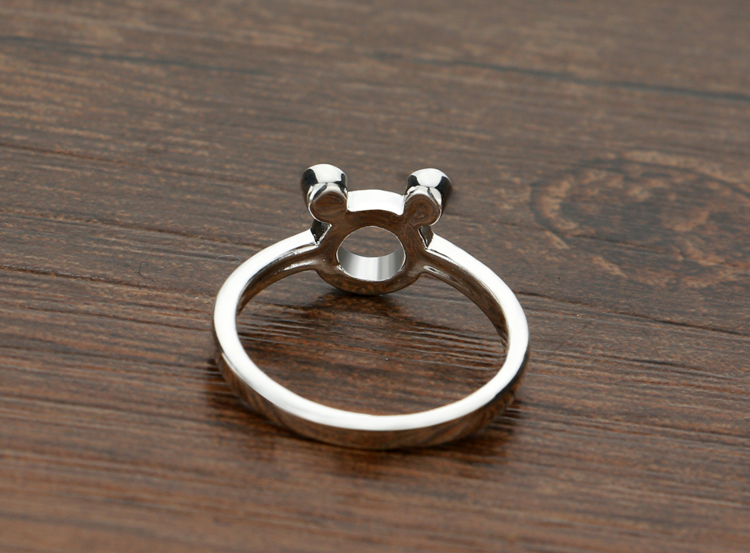 Fashion Classic Mickey Ring Cute Simple 100 Solid 925 Sterling Silver Ring Girl Ring Charming Woman Silver Jewelry Wholesale in Rings from Jewelry Accessories