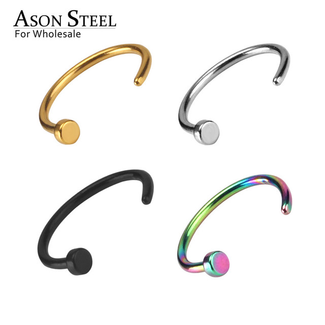 9.5mm 4pcs/lot Fake Septum Medical Ear Piercing Set Earrings Nose Ring Silver Gold Body Clip Hoop For Women Clip Jewelry Gift