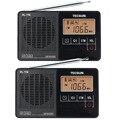2 unids tecsun pl-118 radio mini dsp etm fm estéreo radio despertador sleep timer y4142a receptor portátil de radio fm