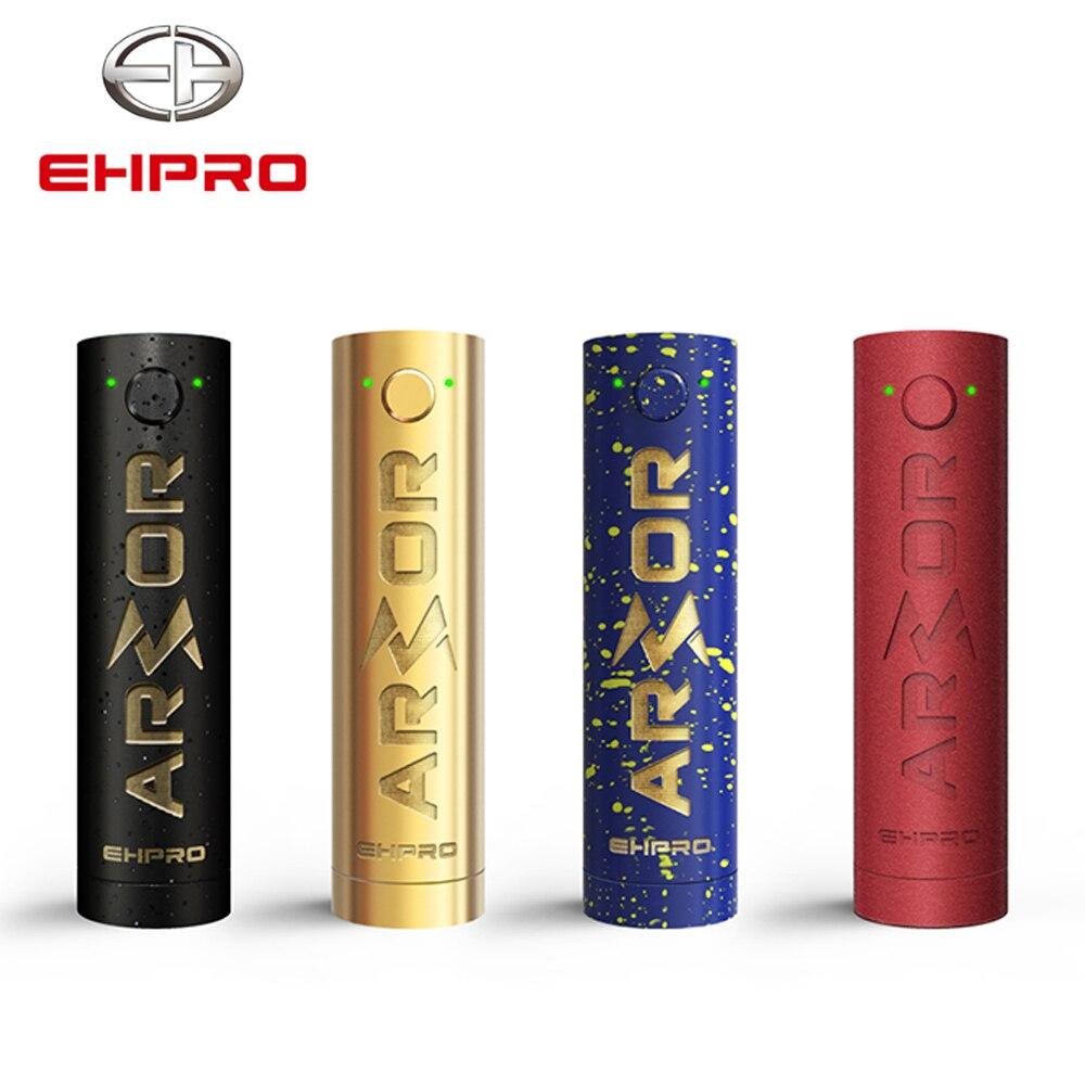 Ehpro Armor Prime mécanique Mod couleur noire 510 fil 21700 20700 18650 batterie Cigarette électronique Vape Mech Mod laiton